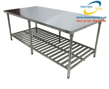 Các mẫu bàn Inox SUS 304 chữ nhật phổ biến nhất